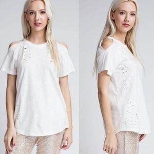 Threadzwear Tops - Cold Shoulder T-Shirts